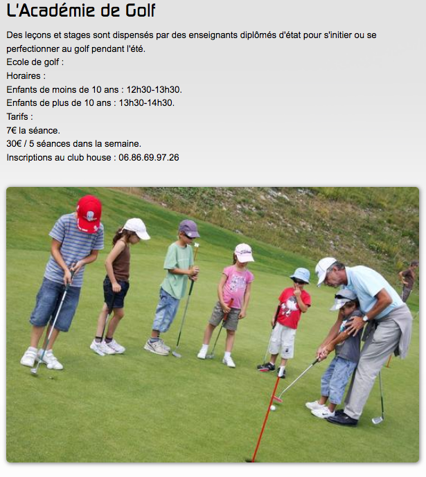 Golf de montagne: Valberg Golf Club