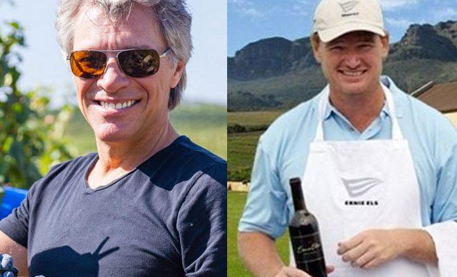 Le golf, le rock, le vin et leurs stars