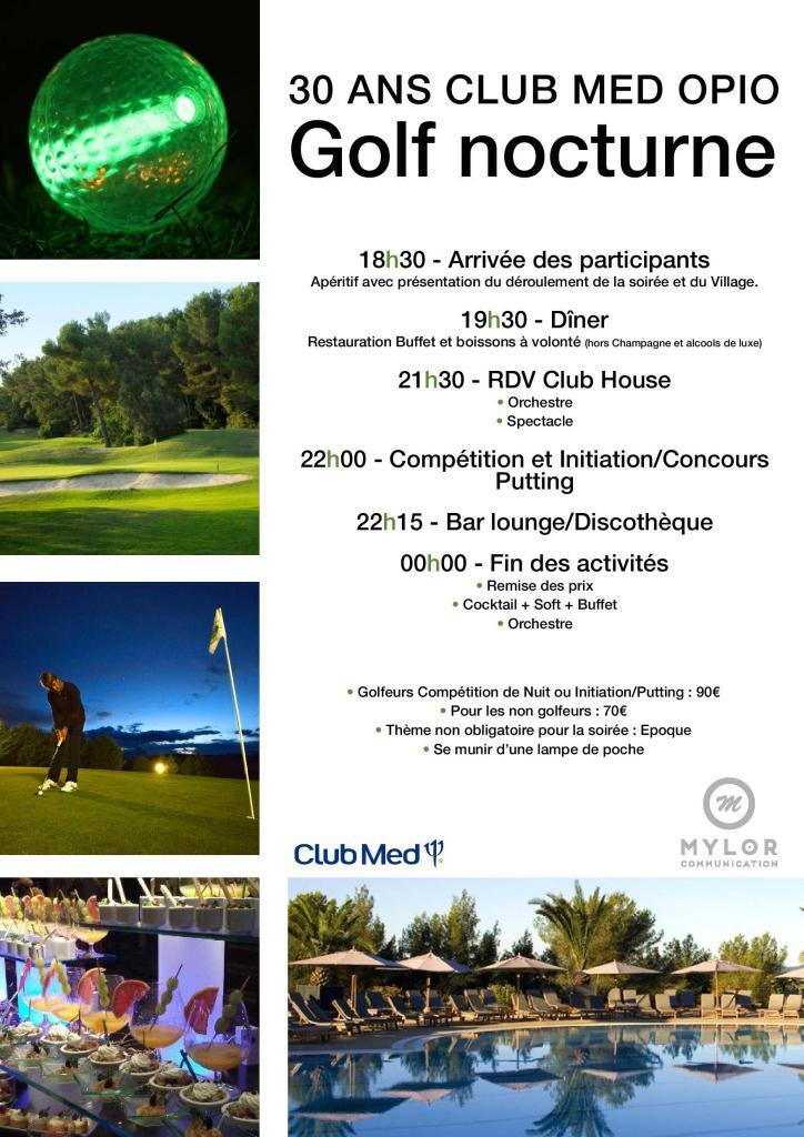 Club Med Opio Night Golf