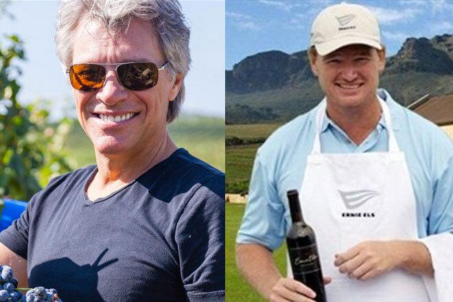 Le golf le rock le vin et leurs stars