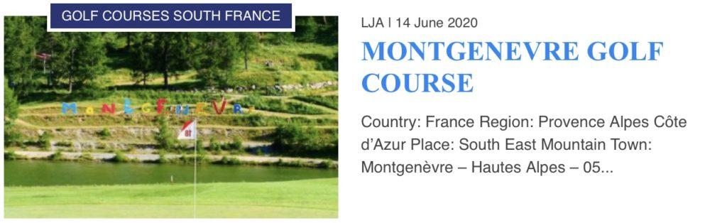 Montgenevre Golf Course
