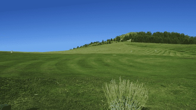 Valberg Golf Course, the practice