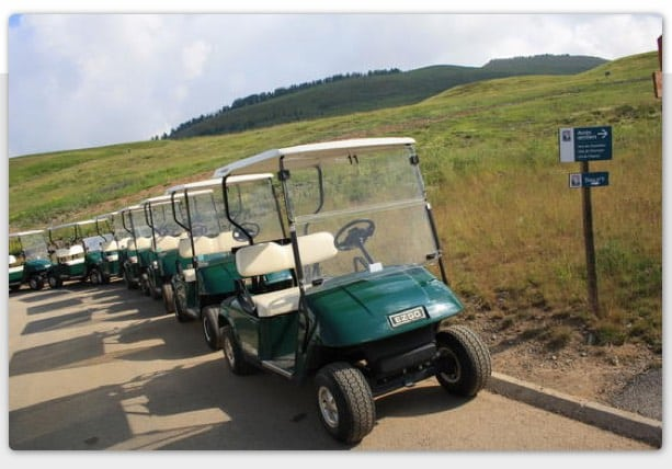 Valberg Golf Course, caddy cars